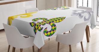 Fleur De Lis Motifs Tablecloth
