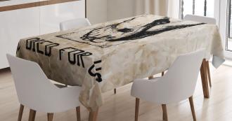 Nailed Legs Hand Drawn Tablecloth