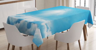 Above the Clouds Religious Tablecloth