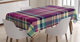 Vintage Purple Retro Tablecloth