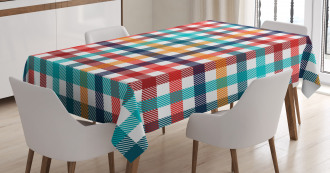 Fresh Summer Gingham Tablecloth