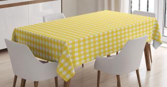 Retro English Yellow Tablecloth