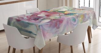 Oriental Dancer Girl Tablecloth