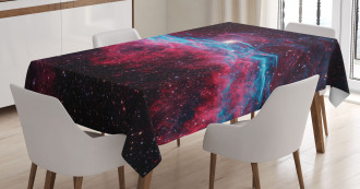 Outer Space Stars Galaxy Tablecloth