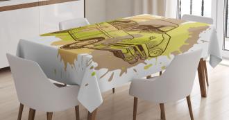 Vintage Car Design Tablecloth