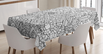 Crowded Urban Life Tablecloth
