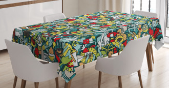 Simple Holiday Drawing Tablecloth