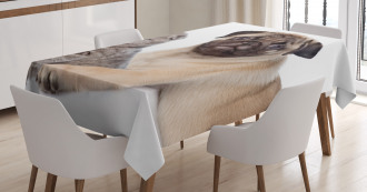Cute Young Puppy and Kitten Tablecloth
