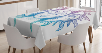 East Oriental Inspired Image Tablecloth