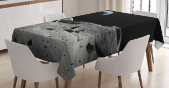 Earth Seen from the Moon Tablecloth