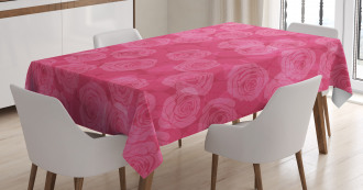Shades of Pink Romantic Tablecloth