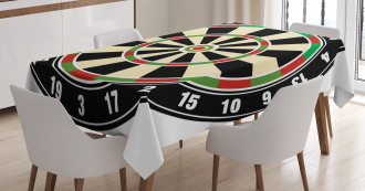 Dart Board Lifestyle Tablecloth