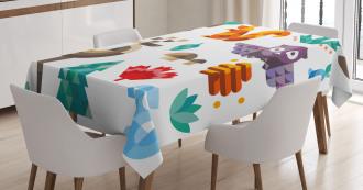Cheerful Pop Art Design Tablecloth