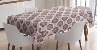 Abstract Soft Circles Tablecloth