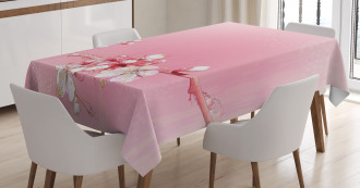 Japanese Cherry Bloom Tablecloth