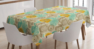 Abstract Carnations Art Tablecloth