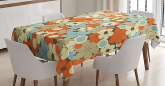 Retro Simple Flowers Tablecloth