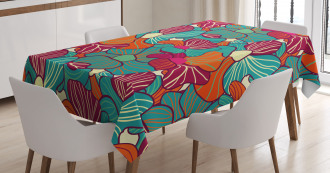 Flourish Foliage Petals Tablecloth