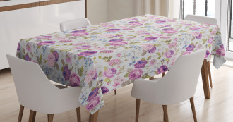 Pastel Tones Leaves Tablecloth