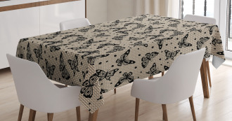 Lace Style Figures Tablecloth