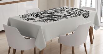 Beware Growling Animal Tablecloth