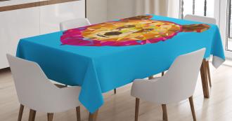 Geometric Head Poly Effect Tablecloth