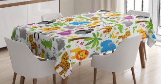 Various Animals Cute Tablecloth