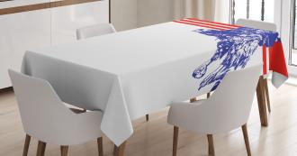 American Flag Colors Bird Tablecloth