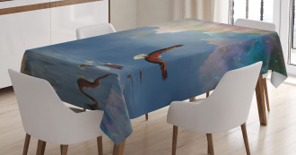 Majestic Huge Bird Flying Tablecloth