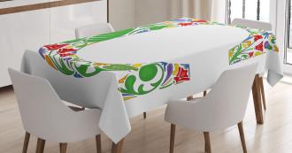 Vivid Design Capital Tablecloth