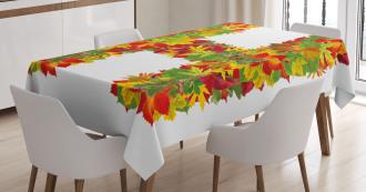 Vibrant Leaf Bouquet Tablecloth