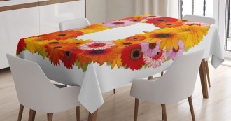 Summer Chamomile Petals Tablecloth