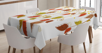 Branches Leaves Fall Tablecloth