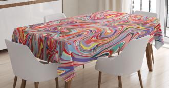Flow Splash Artistic Tablecloth