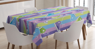 Sneakers Stripes Youth Tablecloth