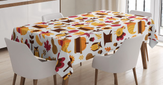Cute Fall Composition Tablecloth