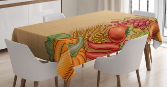Retro Seasonal Frame Tablecloth