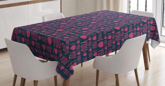 Romance Pattern Heart Tablecloth