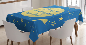 Comet Astronomy Star Tablecloth