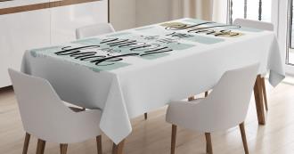 Pastel Paintbrush Tablecloth