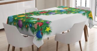 Traditional Font Xmas Tablecloth