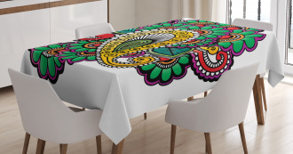 Vivid Colored Pattern Tablecloth