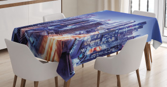 Dubai Downtown Modern UAE Tablecloth