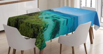 Green Trees Clear Water Tablecloth