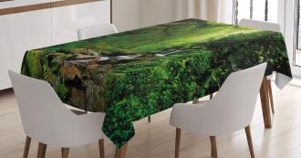 Idyllic Forest Design Tablecloth