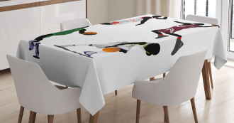 Basketball Players Sport Tablecloth