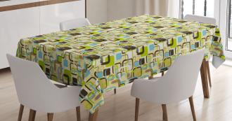 Brush Strokes Squares Tablecloth