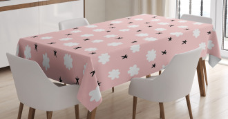 Cloud Star Girlish Doodle Tablecloth