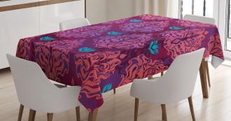 Natural Lilac Pattern Tablecloth