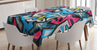 Street Art Graffiti Funk Tablecloth